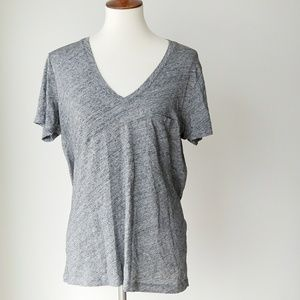 Madewell 100% cotton gray basic vneck tee